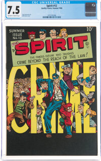 The Spirit #12 (Quality, 1948) CGC VF- 7.5 Off-white to white pages