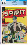 Golden Age (1938-1955):Crime, The Spirit #18 (Quality, 1949) CGC VF+ 8.5 Off-white to white pages....