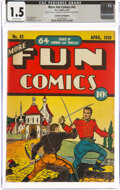 Golden Age (1938-1955):Miscellaneous, More Fun Comics #42 Cosmic Aeroplane Pedigree (DC, 1939) CGC FR/GD 1.5 Off-white pages....
