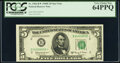 Small Size:Federal Reserve Notes, Fr. 1966-B; B* $5 1950E Federal Reserve Notes. PCGS Graded Choice About New 55PPQ; Very Choice New 64PPQ.. ... (Total: 2 notes)