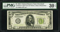 Fr. 1955-D* $5 1934 Light Green Seal Federal Reserve Star Note. PMG Very Fine 30 EPQ