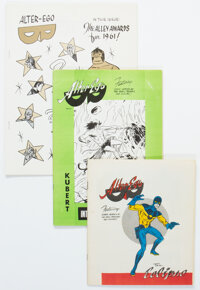 Alter Ego #4-11 Group (Alter Ego Enterprises, 1962-78) Condition: Average NM-.... (Total: 8 Items)