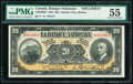 Canada Quebec City, PQ- Banque Nationale $20 2.11.1922 Ch.# 510-22-06S Specimen PMG About Uncirculated 55