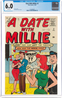 A Date With Millie #2 (Marvel, 1959) CGC FN 6.0 White pages