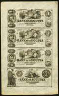 Obsoletes By State:Georgia, Augusta, GA- Augusta, GA- Bank of Augusta $1-$1-$1-$2 18__ Uncut Sheet Choice About Uncirculated.. ...