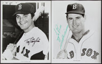 Boston Red Sox Legends Signed Photographs - Williams, Conigliaro.... (Total: 2 items)