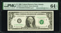 Error Notes:Mismatched Serial Numbers, Mismatched Serial Numbers Error Fr. 1903-F $1 1969 Federal Reserve Note. PMG Choice Uncirculated 64 EPQ.. ...