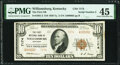 Low Serial Number 2 Williamsburg, KY - $10 1929 Ty. 2 The First National Bank Ch. # 7174 PMG Choice Extremely Fine 45...