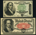 Fractional Currency:Fifth Issue, Fr. 1379 50¢ Fourth Issue Dexter New;. Fr. 1381 50¢ Fifth Issue New.. ... (Total: 2 notes)