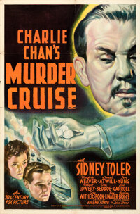 "Charlie Chan's Murder Cruise (20th Century Fox, 1940). Folded, Very Fine-. One Sheet (27"" X 41"")"
