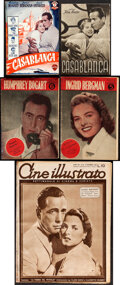 """Movie Posters:Academy Award Winners, Casablanca (Various, 1946-1948). Overall: Fine+. Spanish Magazine (72 Pages, 6"""" X 8.5""""), Austrian Program (4 Pages, 5.75"""" X ... (Total: 5 Items)"""