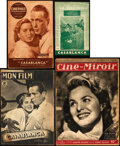 "Movie Posters:Academy Award Winners, Casablanca (Various, 1947). Fine/Very Fine. French Magazines (4) (Multiple Pages, 5.25"" X 8.25"", 7"" X 10.5"", 8.25"" X 11.75"",... (Total: 4 Items)"