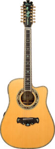 Musical Instruments:Acoustic Guitars, Modern Bozo Bell Western B-75 Natural 12 String Acoustic Guitar, Serial #12-EQ-2011.. ...