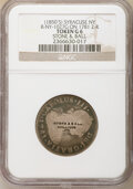 (1850's) Syracuse, NY Counterstamp, STONE & BALL, Rulau-NY-1027G, Good 6 NGC. Counterstamp impressed in three lines...