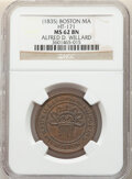 Hard Times Tokens, (1835) Token Alfred D. Willard, HT-171, R.1, MS62 Brown NGC. Boston, MA. Copper, plain edge, 28 mm....