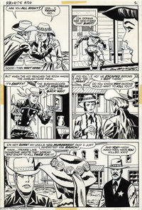 Larry Lieber and George Roussos - Rawhide Kid #106, Group of 8 pages Original Art (Marvel, 1973). These rootin'-tootin'...