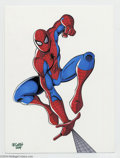 Original Comic Art:Splash Pages, JE Smith - Spider-Man Pin Up Original Art (2004). Your FriendlyNeighborhood Spider-Man swings into action in this scintilla...