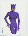 Original Comic Art:Splash Pages, JE Smith - Catwoman Original Art Pin Up (2004). A sultry and sexyportrait of the Catwoman, by Complex City creator JE S...