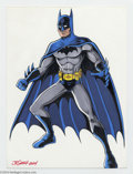Original Comic Art:Splash Pages, JE Smith - Batman Pin Up Original Art (2004). JE Smith presents theGolden Age Batman, posed for action, in this full color,...