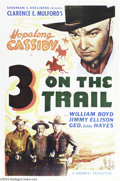 "Movie Posters:Western, 3 on a Trail (Goodwill Production, 1946). One Sheet (27"" X 41"").This is a mid to late forties re-issue of one of the early ..."