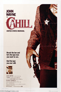 "Cahill : United States Marshal (Warner Brothers, 1973). One Sheet (27"" X 41""). John Wayne stars as J. D. Cahil..."