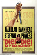 """Movie Posters:Horror, Die, Die My Darling (Hammer Films, 1965). One Sheet (27"""" X 41""""). Tallulah Bankhead stars in this tale of a demented mother g..."""