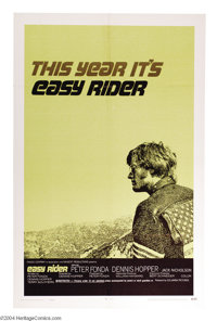 """Easy Rider (Columbia, 1969). Style C One Sheet (27"""" X 41""""). Dennis Hopper directed and Peter Fonda starred in..."""