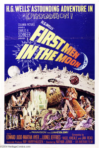 """First Men in the Moon (Columbia, 1964). One Sheet (27"""" X 41""""). Ray Harryhausen's special effects dominate this..."""