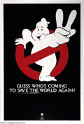 "Movie Posters:Comedy, Ghostbusters (Columbia, R-1989). Advance One Sheet (27"" X 41"").Rerelease advance poster to the Ivan Reitman comedy classic...."