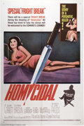 """Movie Posters:Horror, Homicidal (Columbia, 1961). One Sheet (27"""" X 41""""). William Castle directs this horror thriller starring Patricia Breslin and..."""