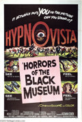 """Movie Posters:Horror, Horrors of the Black Museum (American International, 1959). One Sheet (27"""" X 41""""). AIP horror thriller filmed in """"Hypnovisio..."""