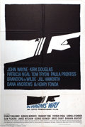 """Movie Posters:War, In Harm's Way (Paramount, 1965). One Sheet (27"""" X 41""""). ClassicSaul Bass design on this great poster for the Otto Preminger..."""