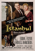 "Movie Posters:Adventure, Istanbul (Universal International, 1957). One Sheet (27"" X 41"").One of Errol Flynn's last ""good"" films, this one also stars..."