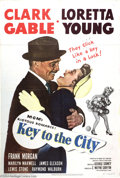 "Movie Posters:Comedy, Key to the City (MGM, 1950). One Sheet (27"" X 41""). Lightheartedromantic comedy starred Clark Gable and Loretta Young in ro..."