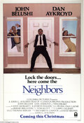 "Movie Posters:Comedy, Neighbors (Columbia, 1981). One Sheet (27"" X 41""). John Belushistars with Don Akyroyd in this comedy about neighbors. Very ..."