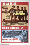 "Movie Posters:Western, The Sons of Katie Elder/ Red Line 7000 (Paramount, R-1968). OneSheet (27"" X 41""). Double bill one sheet for the John Wayne,..."