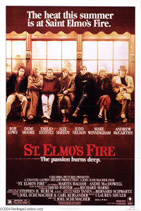 """St. Elmo's Fire (Columbia, 1985). One Sheet (27"""" X 41""""). The """"Brat Pack"""" are at their best in this c..."""