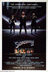 """Superman II (Warner Brothers, 1981). Advance One Sheet (27"""" X 41""""). Christopher Reeve is back as the """"Man..."""