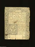 Colonial Notes:Connecticut, Connecticut June 19, 1776 1s/3d Fine, tears. Three ...