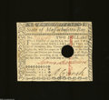 Colonial Notes:Massachusetts, Massachusetts May 5, 1780 $2 Choice About Uncirculated.A ...