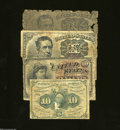 Fractional Currency:First Issue, Four 10¢ Fractionals.