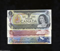 Canadian Currency: , Three Different Denominations.BC-46a $1 1973 Ch CU