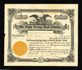 Stocks and Bonds:Banking & Insurance Certificates, Penny Savings Bank of Dallas Stock Certificate Extremely ...