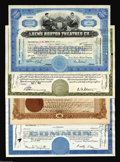 Stocks and Bonds:General Stocks & Bonds, Four Stock Certificates.