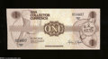 Miscellaneous:Other, American Numismatic Association Collector Currency $1 1988