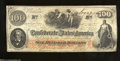 Confederate Notes:1862 Issues, T41 $100 1862. Healthy edges and good color decorate this ...