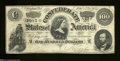 Confederate Notes:1864 Issues, T65 $100 1864. A light vertical fold and a corner fold are ...