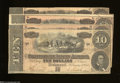 Confederate Notes:1864 Issues, T68 $10 1864 Four Examples. The No Series note grades VG,... (4 notes)