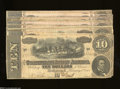 Confederate Notes:1864 Issues, T68 $10 1864 Ten Examples. There are two 7 Series notes, ... (10 notes)