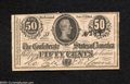 Confederate Notes:1864 Issues, T72 50 Cents 1864.Another superbly embossed example of ...